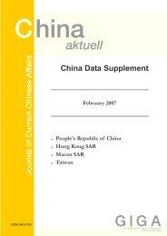 China Data Supplement February 2007