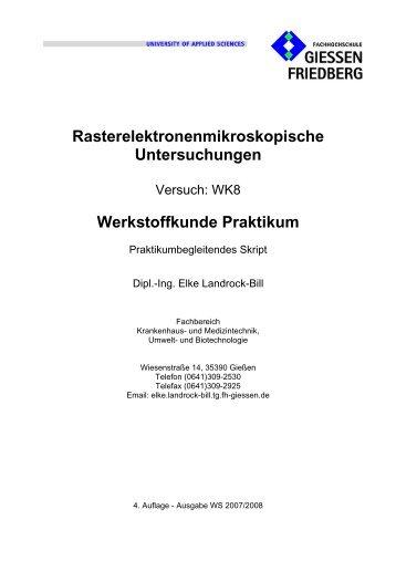 Rasterelektronenmikroskopische Untersuchungen Werkstoffkunde ...