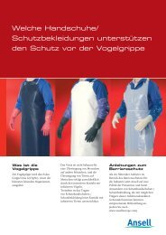 Bird Flu Leaflet_DE.indd - Ansell Healthcare Europe