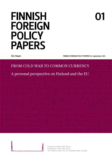 From Cold War to Common Currency
