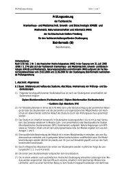 Prüfungs- und Praktikumsordnung Bioinformatik