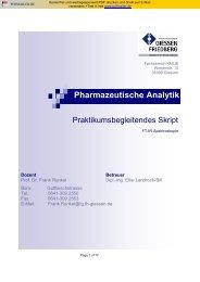 Pharmazeutische Analytik