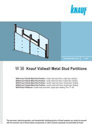 W 36 Knauf Vidiwall Metal Stud Partitions