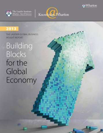building blocks for the Global economy - Knowledge@Wharton