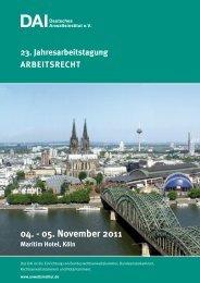 04. - 05. November 2011 - Deutsches Anwaltsinstitut eV