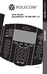 SoundPoint IP 600 SIP User Guide - Knowledge Base - Polycom