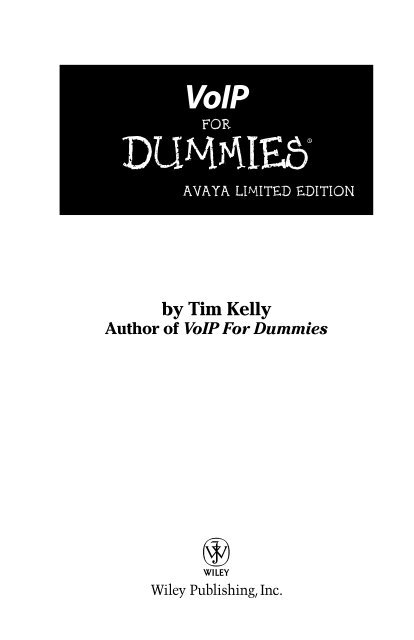 VoIP For Dummies pdf - Knowledge Base