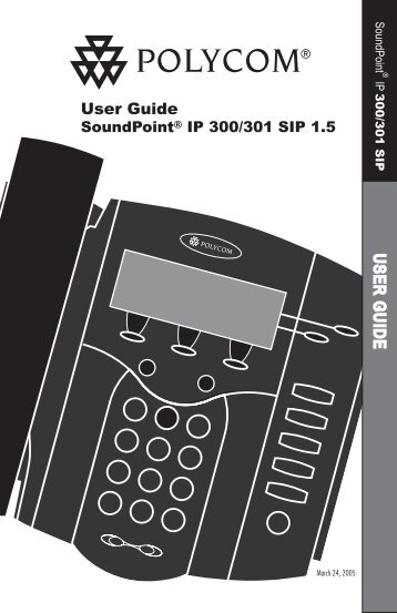 SoundPoint IP 300 SIP User Guide - Knowledge Base - Polycom