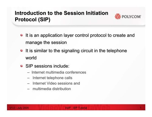 VoIP CPE - SIP Overview - Slides pdf - Knowledge Base