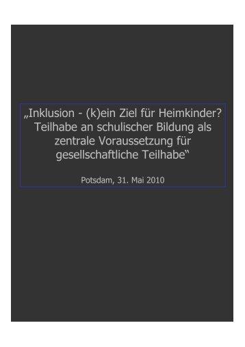Inklusion-HzE_- Berlin_31-05-10 - SFBB Berlin-Brandenburg