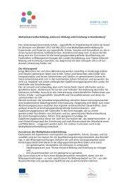 Multiplikatorenfortbildung ?Inklusive Bildung und ... - kobra.net