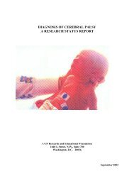 diagnosis of cerebral palsy a research status report - Análise de ...