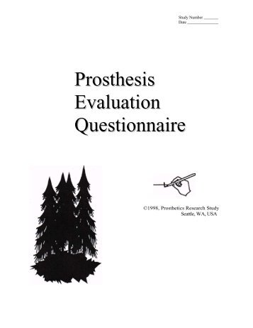 Prosthesis Evaluation Questionnaire - Análise de Marcha