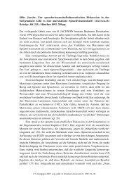 Silke Jacobs: Zur sprachwissenschaftstheoretischen ... - Kodeks