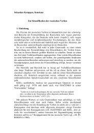 Zur Klassifikation der russischen Verben - Kodeks