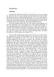 Das Russische Einleitung Innerhalb der Slawischen ... - Kodeks