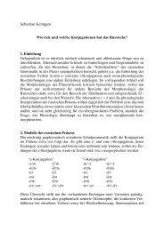 Sebastian Kempgen Wieviele und welche Konjugationen hat - Kodeks