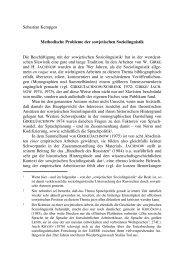 Methodische Probleme der sowjetischen Soziolinguistik - Kodeks
