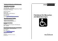 Fahrdienst für Menschen mit Behinderungen - KOMM Münster