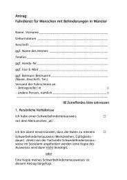 Fahrdienst für Menschen mit Behinderungen - Antrag - KOMM Münster