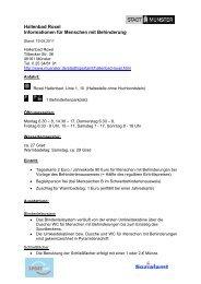 Hallenbad Roxel - Informationen für Menschen mit ... - KOMM Münster