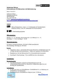 Hallenbad Hiltrup - Informationen für Menschen mit ... - KOMM Münster