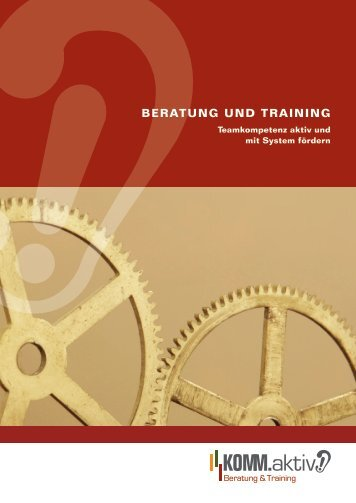 Beratung und training - KOMM.aktiv