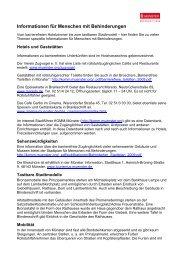 Münster Information: Infos für Menschen mit ... - KOMM Münster