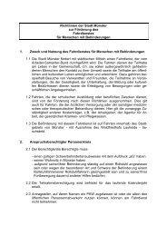Richtlinien zum Fahrdienst für Menschen mit ... - KOMM Münster