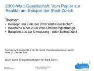 2000-Watt-Gesellschaft - Kommunale Infrastruktur