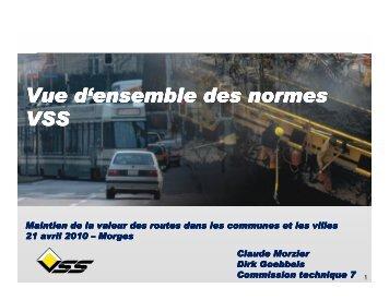 Vue d'ensemble sur les normes de la VSS - Claude Morzier