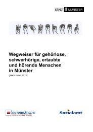 Wegweiser für gehörlose Menschen - KOMM Münster