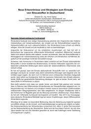 Neue Erkenntnisse und Strategien zum Einsatz von Streustoffen in ...