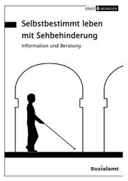 Selbstbestimt leben mit Sehbehinderung - KOMM Münster