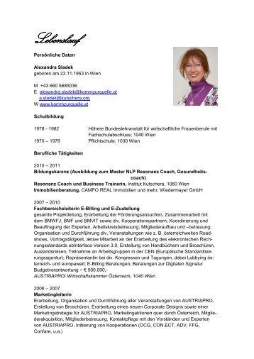 Lebenslauf Doris Bock - Doris Bock, db.Unternehmer-Beratung