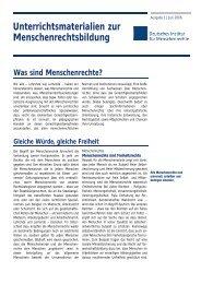 Was sind Menschenrechte? - Deutsches Institut für Menschenrechte