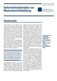 Kinderrechte - Deutsches Institut für Menschenrechte