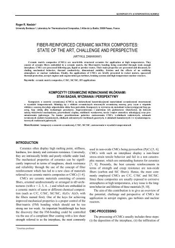 FIBER-REINFORCED CERAMIC MATRIX COMPOSITES: STATE OF ...