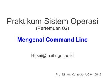 Mengenal Command Line - Komputasi