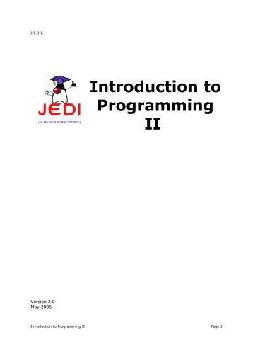 Introduction to Programming II - cobanoglu