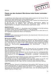 Merkblatt - Stiftung für Konsumentenschutz