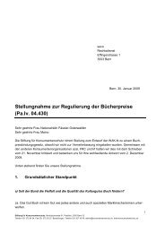 Vernehmlassungsantwort der SKS - Stiftung für Konsumentenschutz