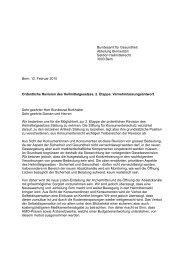 Stellungnahme Heilmittelrevision - Stiftung für Konsumentenschutz