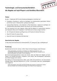 die Abgabe auf mp3-Playern - Stiftung für Konsumentenschutz
