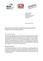 Stellungnahme - Stiftung für Konsumentenschutz