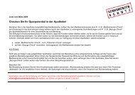 Checken Sie Ihr Sparpotential in der Apotheke! - Stiftung für ...