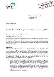 Bundesamt für Gesundheit Abteilung Recht 3003 Bern Bern, 14. Mai ...