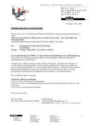 Einladung zum Presse- und Fototermin