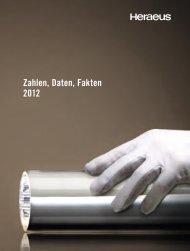 Zahlen, Daten, Fakten 2012 - Über Heraeus