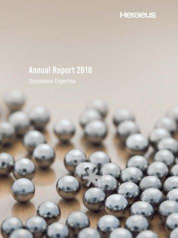 Annual Report 2010 - About Heraeus